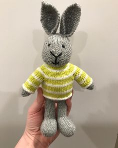 """39a52f1f Carole on Instagram: """"So cute - another wee bunny #littlecottonrabbits # knitting #knitstagram #knittersofinstagram #knittingtoys #iknit #memade"""""""