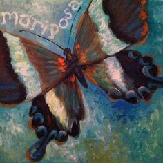 """""""Mariposa"""" Original Art by Tina C. Wells, Winsome Wren"""