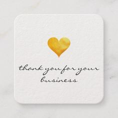 Cutesy Gold Heart Thank You Loyalty Card - gold gifts golden diy custom Thank You Notes, Thank You Cards, Square Business Cards, Business Inspiration, Business Ideas, Salon Style, Gold Gifts, Heart Of Gold, Business Card Design