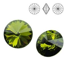 1122 Rivoli SS39 Olivine F 2pcs  Dimensions: diameter 8,16-8,41 mm Colour: Olivine F 1 package = 2 pieces