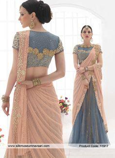 Zesty Parties Resham Work Designer Saree