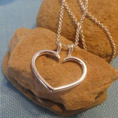 Ring Holder Necklace Heart Charm Pendant Fine by JJDLJewelryArt