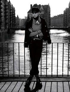 """Saskia de Brauw in """"Grosse Freiheit"""" by Karl Lagerfeld for Vogue Germany July 2013"""