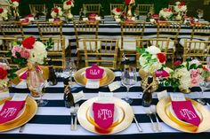 Tables Setting for Bridal Luncheon