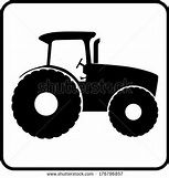 Tractor silhouette icon vector illustration - stock vector