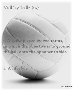 Volleyball - I've chosen volleyball because it reveals the side of me that is all about staying active and doing my best! I am a very active person, and enjoy staying healthy and fit and love to challenge myself. Volleyball is a team sport, but you need to also be mentally prepared as an individual.