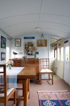 Whin Bridge Railway Carriage House Eype Dorset  Carriage interior - beautiful