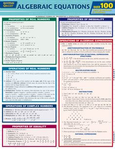 "6 page ""Quizzers"" edition of our best-selling Algebraic Equations guide features a new list of sample problems you can perform that cover every element featured in the original version—from second-degree quadratic and polynomial equations to logarithmic functions. http://www.examville.com/examville/Algebraic%20Equations%20Quizzer%20-PRID1881 #math #algebra #commoncore #schools #classrooms #lessons #teachers #teaching #schools"