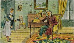 ¿telefono? ¿llamadas? carajo! era 1910 y queriamos que los mensajes de voz llegaran por medio de un mensajero y me lo entregara en la puerta!