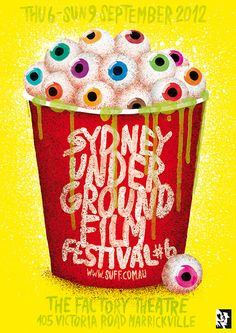Sydney Underground Film Festival poster by Stefan Fahler - Lost At E Minor: For creative people