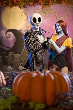 Jack Skellington and Sally scare up new fun in Mickey's Not-So-Scary Halloween Party meet-and-greet at Walt Disney World Disney World Hollywood Studios, Disney World News, Disney World Magic Kingdom, Disney World Parks, Disney World Halloween, Disney Halloween Costumes, Halloween Town, Scary Halloween, Disney Insider
