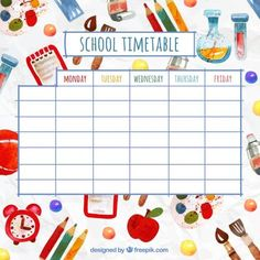 High Quality Time Table Chart Clipart How To Make Time Table Chart School Timetable Chart Time Table Ideas For Kids School Time Table Chart