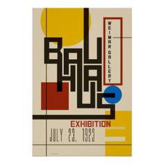 Affiche de Bauhaus