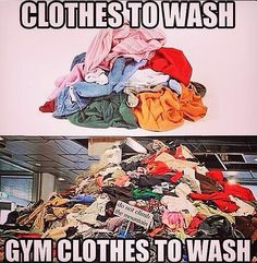 90% of my dirty clothes are workout clothes. And yet I feel like I don't have enough!