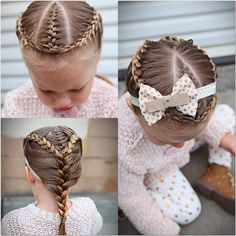 French Braids and a Southern Adoornments headband (http://www.etsy.com/shop/southernadoornments)