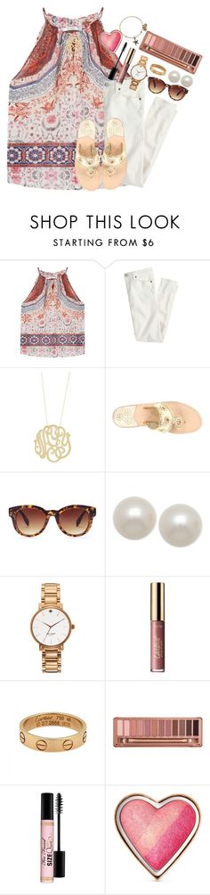 """just did a summer clothes inventory... hopefully going shopping tmrw!"" by thefashionbyem ❤ liked on Polyvore featuring MANGO, J.Crew, Ginette NY, Jack Rogers, Forever 21, Honora, Kate Spade, tarte, Cartier and Urban Decay"