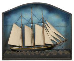 FOLK ART SHIP DIORAMA : Lot 0113