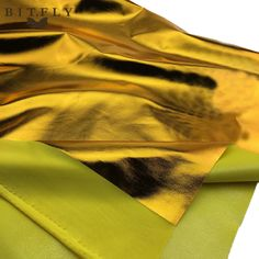 Shiny Gold Foil bronzing Spandex Fabric sewing Material PU glossy leather fabric for DIY stage cosplay costume Dress 1.5mx1m