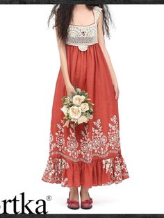 crochet embellished cotton maxi dress
