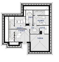 DOM.PL™ - Projekt domu DPS Nebraska CE - DOM DPS1-29 - gotowy koszt budowy Nebraska, Ideas Para, Sweet Home, Floor Plans, House Design, Bungalows, Sea, Home Decor, Arquitetura