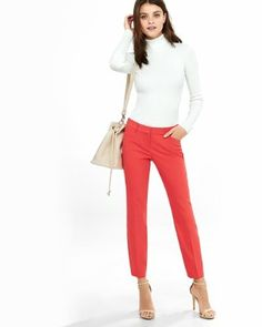 sand ultimate double weave editor ankle pant  from EXPRESS
