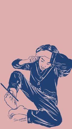 K-Pop lockscreens & desktop wallpapers featuring BTS, BlackPink, Seventeen, NCT, Stray Kids and many more. Bts Jungkook Birthday, Jungkook Cute, Wallpaper Quotes, Bts Wallpaper, Drawing Sketches, Drawings, Birthday Wallpaper, Bts Lyric, Boho Girl