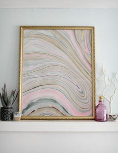 DIY: marbled paper art
