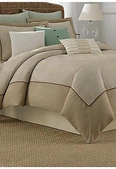 Create a tranquil and inviting look in your bedroom with the Nautica® Eden Glen Comforter in Khaki. With an all-over herringbone design in a sandy shade, the plush comforter includes a chenille top with a mitered border and inserted suede cording. King Comforter, Comforter Sets, Duvet, Master Bedroom, Bedroom Decor, Bedroom Ideas, Bedroom Retreat, Bedroom Inspiration, Dream Bedroom