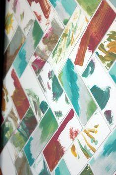 Herringbone Kitchen Art Framed