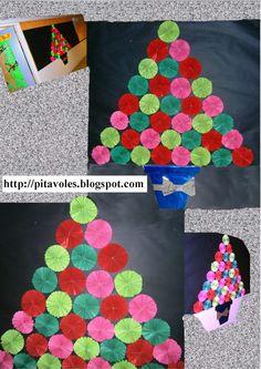 pitavoles: Arbre de Nadal amb folis de colors