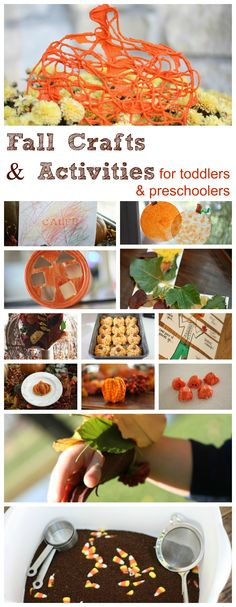 Fall Activities for Toddlers Preschoolers(since fall is approaching the kids are going to need something to do lol)☺ Check out these fall crafts and activities for preschoolers and toddlers! Kids Crafts, Craft Activities For Toddlers, Fall Crafts For Kids, Autumn Activities, Toddler Crafts, Preschool Activities, Fall Art For Toddlers, Toddler Themes, Kindergarten Themes