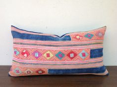 Vintage Homespun Hemp Textile Decorative Pillow by orientaltribe11, $55.00