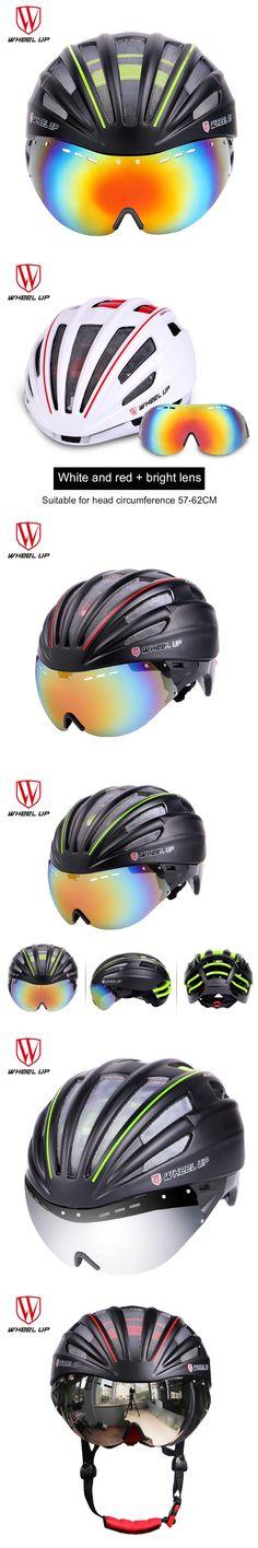 WHEEL UP New a Bike Accessories Integrally Aerodynamic Road Cycling EPS MTB Helmet Mountain Bike Helmet MTB Bicycle Helmet Lens