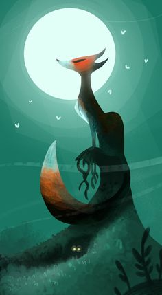 The Fox and the Moon (2014) by James Law, via Behance