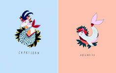 Zodiac illustrations by Katy Smail (via Trendland)