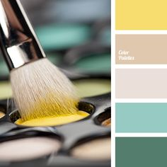 Menthol and dark, almost emerald mint, vanilla beige and sunny yellow is a life-affirminga combination.