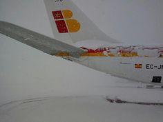El día de la nevada en Barajas #Madrid