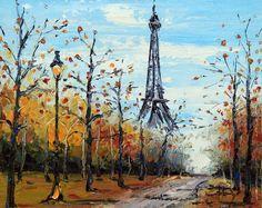 Paris Eiffel Tower art Leonid Afremov