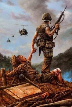 """The latest Brothers in Arms"", Dan Nance -Vietnam War,. Vietnam History, Vietnam War Photos, Military Art, Military History, Military Drawings, Army Wallpaper, Brothers In Arms, Vietnam Veterans, American Soldiers"