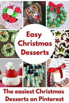 Easy Christmas Desserts via @jfishkind