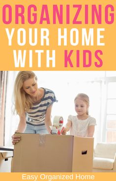 Read this for all the best hacks and ideas for organizing and decluttering your home with kids! #declutterhacks #organizationtips #organizing #homehacks #forparents #organize