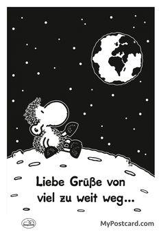 """sheepworld Postkarte – """"Liebe Grüße"""""""