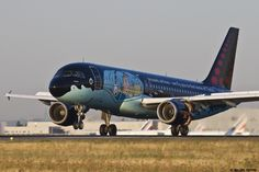 https://flic.kr/p/xEkFWE | LFPG 22 aout 2015 Airbus A320 Brussels Airlines Tintin scheme OO-SNB 2
