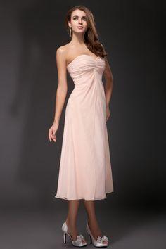 Wrap Sweetheart Chiffon A-line Bridesmaid Dress
