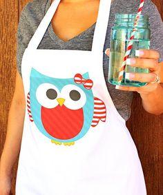 Stripe Owl Apron #zulily #zulilyfinds