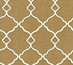 Waverly Williamsburg Chippendale Fretwork/ Mocha to recover library chairs