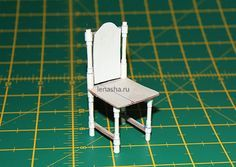 бумажный стул для кукол своими руками