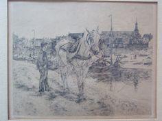G.C. Haverkamp 1872-1926 'Gezicht op Hattem' Techniek: ets