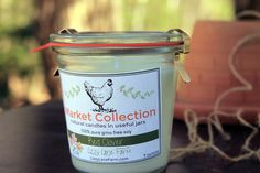 Lizzy Lane Farm Candles - Weck Jar Candle | Red Clover | Rose, Wisteria, Ozone | Soy Candle | Farmers Market Scented Candle | Spring Summer | light green fragrance