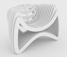 3D Printed Furniture. Modern Chair